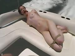Wild Outdoors Bondage and Domination Fun with Skinny Gal