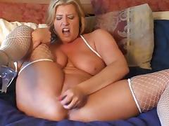 Dirty talking slut masturbates