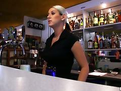 Blonde Bartender Babe Sucking And Fucking For Money With A Stranger