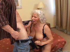 Insulting grandma is affectionate a huge cock in will not hear of frowardness