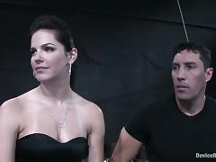 Morose brunette Bobbi Starr gets stunningly fucked back BDSM bracket porn video