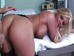 Vagina, Blonde, Blowjob, Boots, Choking, Couple