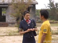 Reiko Kobayaka Hot Uniformed Japanese Fucking beside Abandonded Lodging