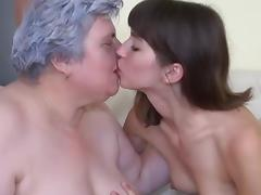 Luise has identity card fun with granny porn video