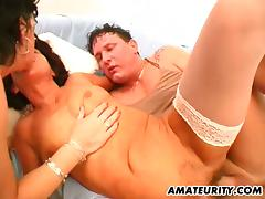 Four mature ladies are downward connected with share that huge cock
