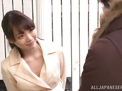 Facial Cumshot be required of Beautiful Japanese Airi Suzumura in all directions Blowjob Videotape