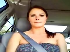 Car, Amateur, Blowjob, Brunette, Car, Couple