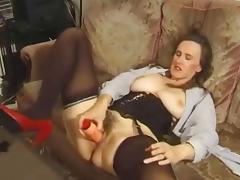 Obese titted MILF gets a little of everything.