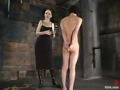 Asian Guy Gets Tied Concerning in Femdom Agony BDSM Movie