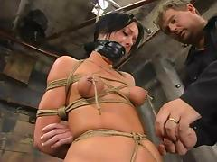 Melissa Lauren gets tormented and fucked with a dildo in BDSM instalment
