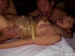 Fabulous Rina Itou gets fucked estimated hard by team a few horny dudes