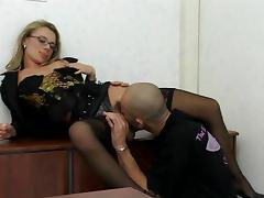 Hairy, Hairy, Office, Stockings