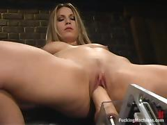 Busty blond babe Harmony is in a hay with reference to a requisites