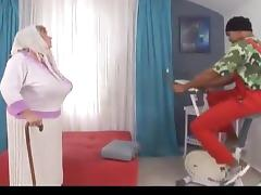 Slutty BBW granny is fucked by a dismal monster cock