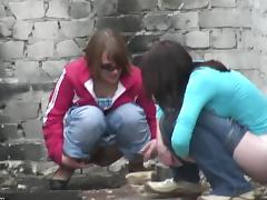 Russian, Fetish, Outdoor, Peeing, Pissing, Posing