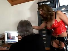 Ava Devine gets her cunt and ass licked by some grey-haired man