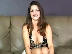Sexy brunette milf comes to the casting and gets a role