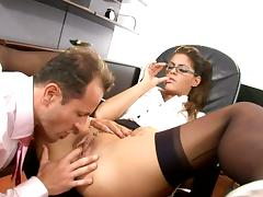 Office, Anal, Blowjob, Couple, Desk, Doggystyle