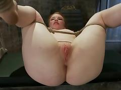 Passionate Madison gets toyed in her ass in bondage video
