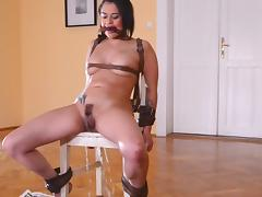 Chained, Bondage, Close Up, European, HD, Pissing