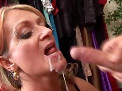 Mature blonde Joanna Depp gets her pussy eaten and fucked
