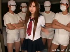 Hardcore and pretty Extreme Gangbang for this Asian Whore