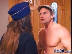 Brunette babe Presley is a real cock gobbling slut