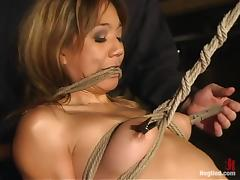 Asian bitch Keeani Lei enjoys being tormented in BDSM scene