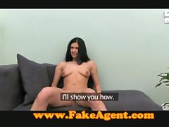Hot chick rides a dick at a casting to get a job