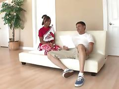 Interracial Fucking With Horny Ebony Cheerleaders And Horny Dude