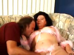Mature brunette Jinni Lewis gets her cunt and ass fingered and fucked