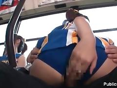Horny Asian cheer leader with nice body