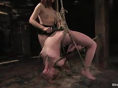 Hot blonde Darling gets her wired pussy pounded with a dildo