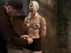 Sexy Natasha Lyn gets toyed in hot bondage video