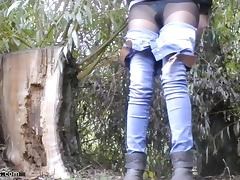 Spy, Fetish, Lesbian, Outdoor, Peeing, Pissing