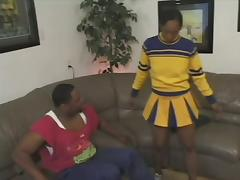 Sexy Ebony Cheerleader Gets Her Black Butt Pounded Hard