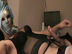CROSSDRESSER NEW BLACK THONG AND BRA... FOR FREE!!!