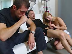 Blonde Janna fuck with photographer