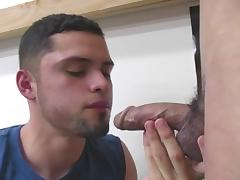 Gay Eating cum