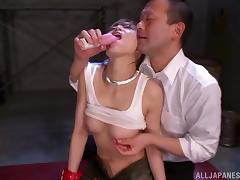 Hot bondage with a kinky Asian hottie