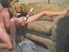 Mature woman gets fucked and toyed in retro video porn video