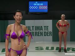 Catfight, Bikini, Catfight, Lesbian, Nude, Sport