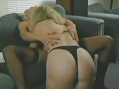Gorgeous girls have lesbian sex in retro style video