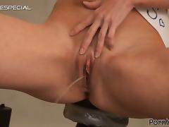 Brunette Slut Taking it Deep and Hard Before Getting Peed On