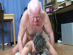 Old and Young, 18 19 Teens, Brunette, European, Office, Penis