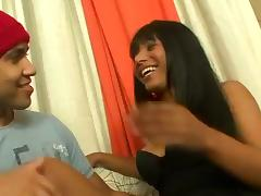 Beautiful Black Shemale has a BBC you Can Cum Play With!