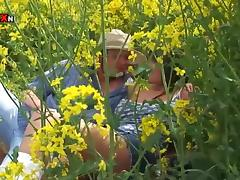 Big Breasted Brunette Mom Gets Fucked Hard in the Ass on the Fields