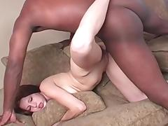 Shaved Pussy, Blowjob, Couple, Interracial, Riding, Small Tits