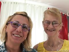 Glasses, Blonde, Close Up, Fingering, Glasses, Granny