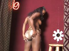 Goddess Ebony Angelica Black Goes In Room Full Of Gloryholes